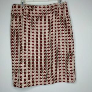 10 Isabella DeMARCO Red White Skirt Business D